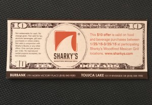 Sharky's coupon
